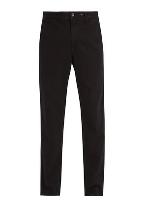 Mid-rise chino trousers