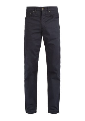 Mid-rise slim-leg chino trousers