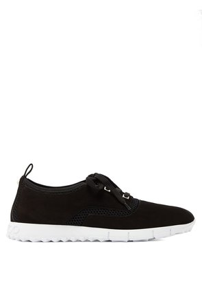Jenson raised-sole low-top suede trainers