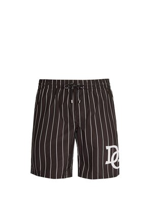 D & G varsity stripe logo swim shorts