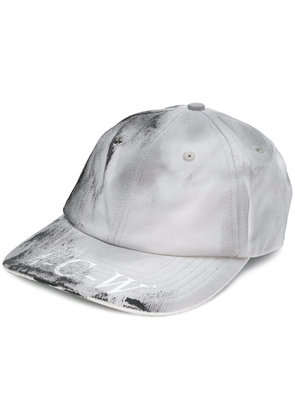 A-Cold-Wall* distressed logo patch baseball cap - Grey