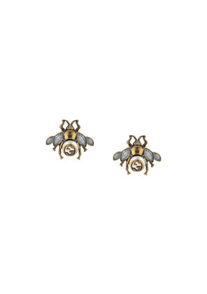 Gucci Bee earrings with crystals - Metallic
