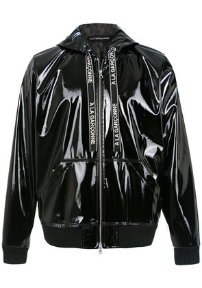 À La Garçonne hooded bomber jacket - Black