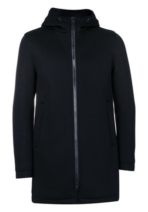 Herno hooded long length jacket - Black