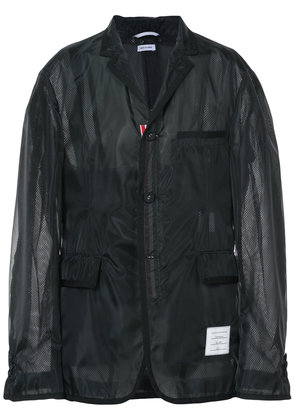 Thom Browne Unconstructed single breasted coat - Black