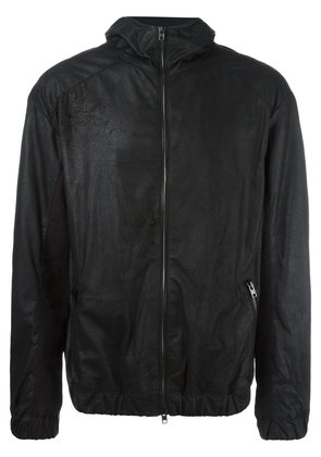 Isabel Benenato hooded leather jacket - Black