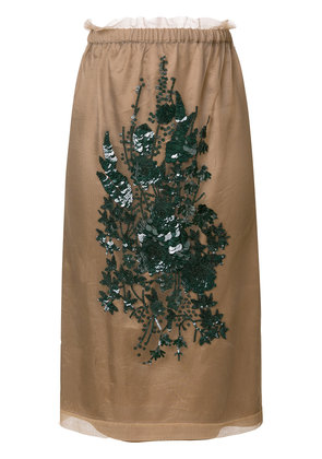 No21 embroidered skirt - Nude & Neutrals