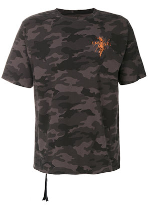 Unravel Project camouflage T-shirt - Black