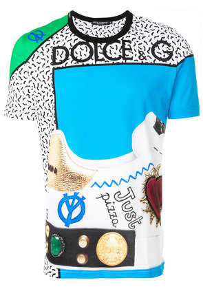 Dolce & Gabbana King of Hearts printed T-shirt - Multicolour