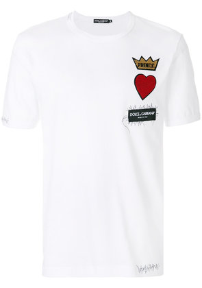 Dolce & Gabbana chest patch T-shirt - White