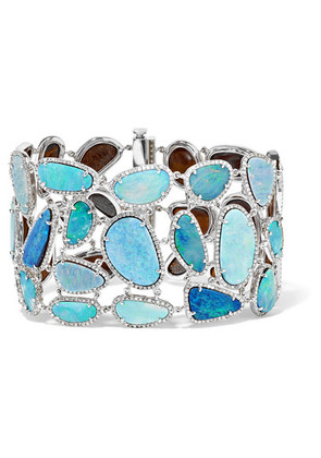 Amrapali - 18-karat White Gold, Opal And Diamond Bracelet - one size