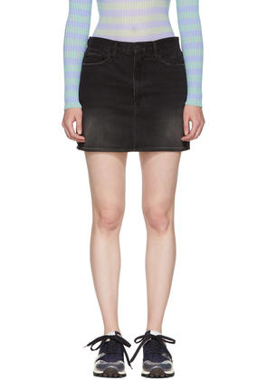 Frame Denim Black le Mini Denim Skirt