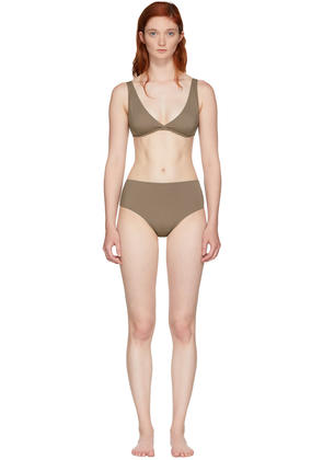 Solid and Striped Brown the Beverly Bikini