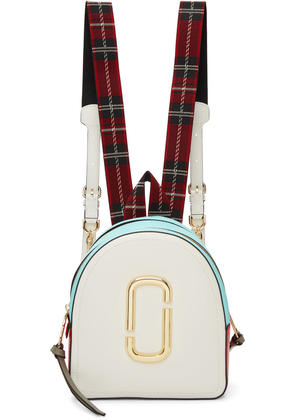 Marc Jacobs White and Blue the Pack Shot Backpack