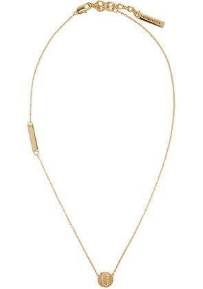 Marc Jacobs Gold Double J Pave Necklace