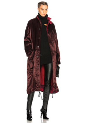 Haider Ackermann Long Parka in Purple