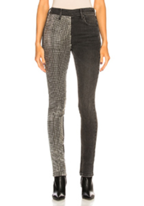 Alexander Wang Slim Slouch with Studded Paneled Leg in Gray