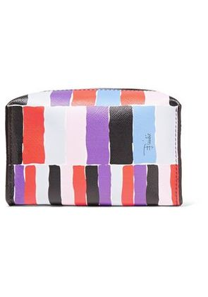 Emilio Pucci Woman Small Printed Textured-leather Cosmetic Case Multicolor Size -