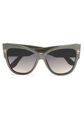 Tom Ford Woman Cat-eye Acetate And Silver-tone Sunglasses Crimson Size Tom Ford Cheap Excellent Perfect Cheap Online Buy Cheap Manchester eHSsc84