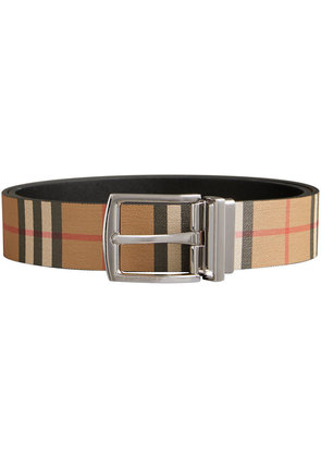 Burberry Reversible Vintage Check Leather Belt - Nude & Neutrals
