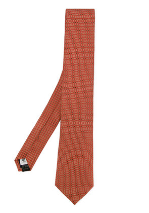 Gieves & Hawkes spotted silk tie - Yellow & Orange