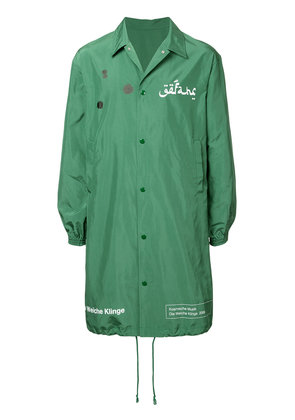 Undercover graphic rain coat - Green