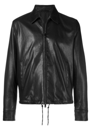 Valentino logo zipped biker jacket - Black
