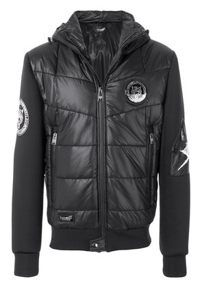 Plein Sport patch detail puffer jacket - Black