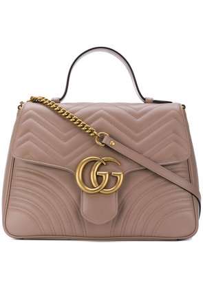 Gucci GG Marmont medium top handle bag - Brown
