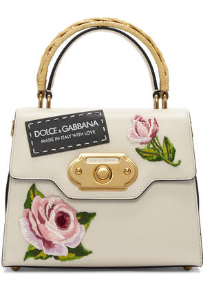 Dolce and Gabbana Pink and Black Small Embroidered Welcome Bag