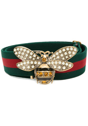 Gucci Web belt with bee - Green