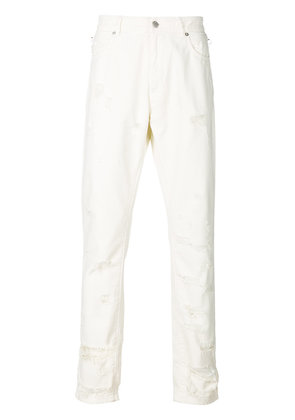 Alyx distressed straight leg jeans - White