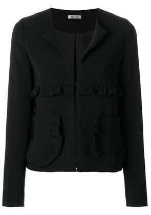 P.A.R.O.S.H. frill trim fitted jacket - Black
