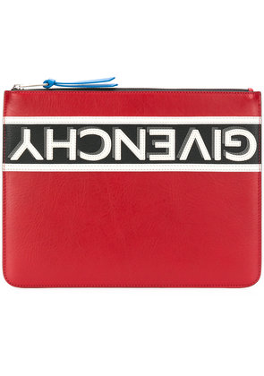 Givenchy logo stripe pouch - Red