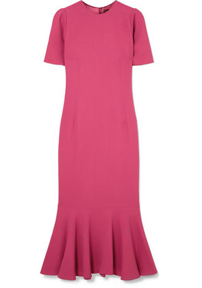 Dolce & Gabbana - Fluted Stretch-crepe Midi Dress - Pink