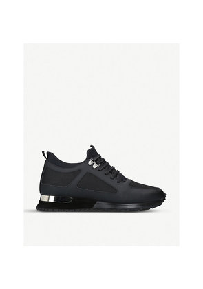 Diver leather and mesh trainers