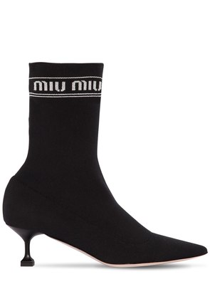55MM LOGO KNIT SOCK ANKLE BOOTS