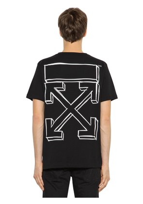 OVERSIZED MARKER ARROWS JERSEY T-SHIRT