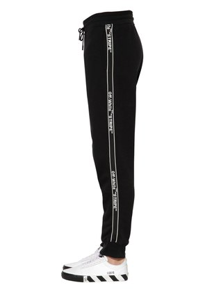 LOGO TAPE COTTON SWEATPANTS
