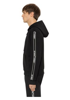 SIDE TAPE ZIP-UP SWEATSHIRT HOODIE