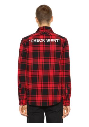 'CHECK SHIRT' COTTON FLANNEL SHIRT