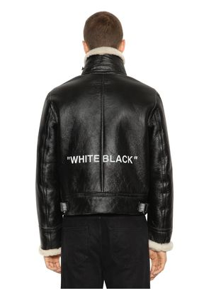'WHITE BLACK' SHEARLING JACKET