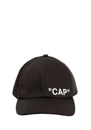 'CAP' PRINTED CANVAS BASEBALL HAT