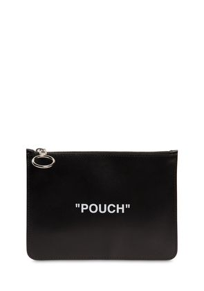 'POUCH' LEATHER FLAT POUCH