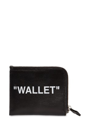 'WALLET' ZIP AROUND LEATHER WALLET
