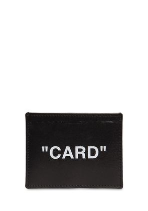 'CARD' LEATHER CARD HOLDER