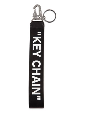 'KEY CHAIN' PRINTED LEATHER KEY CHAIN