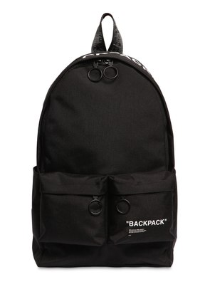 'BACKPACK' TECH CANVAS BACKPACK