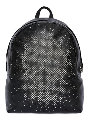 STUDDED SKULL LEATHER BACKPACK