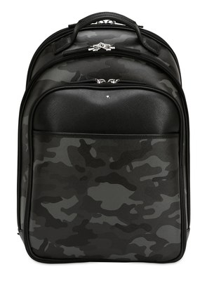 SMALL CAMOUFLAGE LEATHER BACKPACK